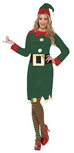 Smiffys Kostüm Kobold Grün mit Kleid Hut und Gürtel, ()