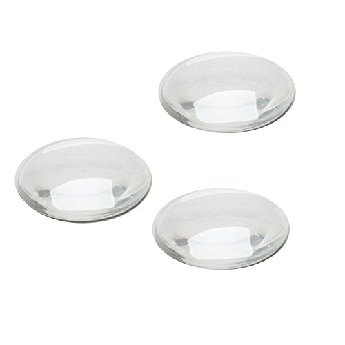 Dophee 50pcs Crystal Clear Runde Cabochons Glas Steine Flache R¨¹ckseite Glaskuppel Schmuckherstellung,30mm