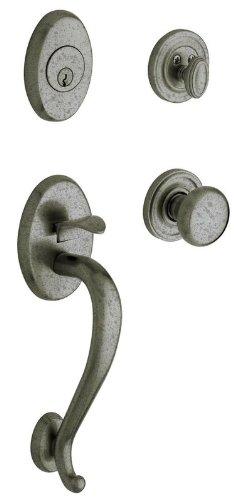 Logan Sektionaltor Zierleiste Single Zylinder Griff Set, 85315452ENTR - Bronze Keyed Baldwin Hardware