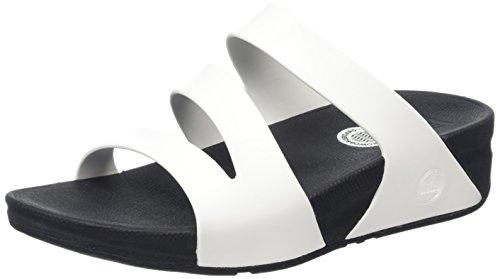 FitFlop Superjelly Twist, Sandales femme Blanc