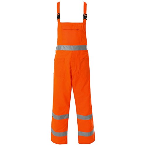 Warnschutz-Latzhose - Lumen - Work and Style - Orange, L