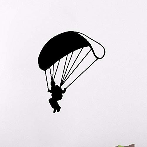 (Qbbes 57 * 69 Cm Fallschirmspringen Wandtattoo Extreme Sport Wandaufkleber Jumper Fallschirm Vinyl Decor Home Wohnzimmer Innenraum Jungen Schlafzimmer Fitness Übungen)