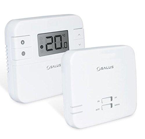 Termostato digital de la marca Salus, RT310RF, con radio frecuencia, inalámbrico, con receptor, repuesto directo para RT300RF