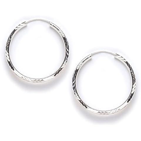 Tomas Jewelry–Pendientes de plata redondas de 40mm corte con láser pendientes de aro