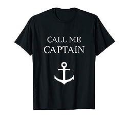 Call Me Captain T-Shirt Bootsführerschein Geschenk