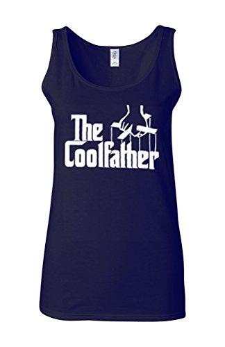 The Cool Father Funny Parody Novelty White Femme Women Tricot de Corps Tank Top Vest Bleu Foncé