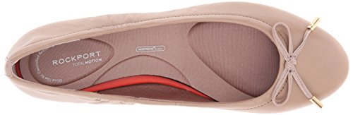 Rockport Tied Ballet Femmes Large Cuir Chaussure Plate Taupe