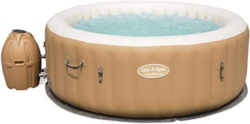 Bestway Lay-Z-Spa Palm Springs AirJet, Whirlpool rund aufblasbar mit Massagefunktion, 196x196x71 cm