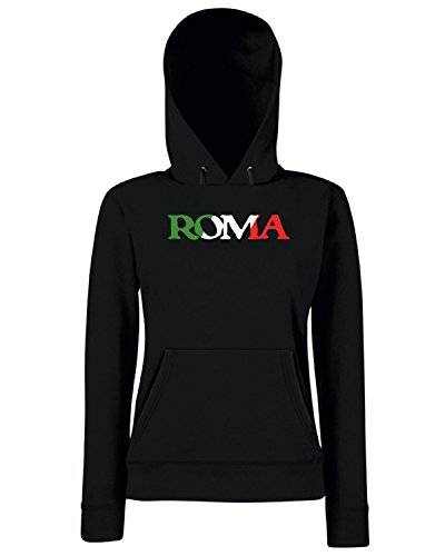 T-Shirtshock - Sweats a capuche Femme TSTEM0199 roma vintage italian pride black Noir