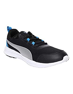 Puma Men's Black Silver-Electric Blue Lemonade Sneakers-10 UK/India (44.5 EU) (4059507939197)