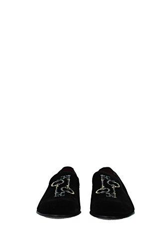 CA5499AT6218V972 Dolce&Gabbana Pantoufle Homme Velours Noir Noir