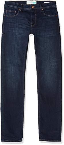 ESPRIT Herren 998EE2B808 Straight Jeans, Blau (Blue Dark Wash 901), W33/L32