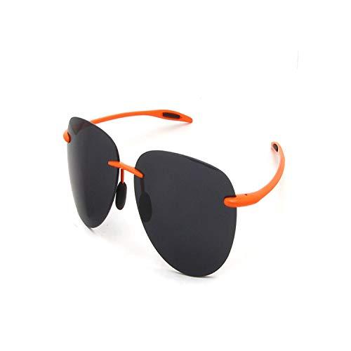 FGRYGF-eyewear2 Sport-Sonnenbrillen, Vintage Sonnenbrillen, Brand Designer Rimless Sunglasses Men TR90 Ultralight Oval Sun Glasses Women Nylon Lens UV400 Sun Protection Shades ORANGE SUNGLASSES
