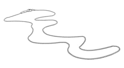"""The Chain Company - Sterling Silver 16"""" 18"""" 20"""" 24"""" 28"""" 30"""" Inch 1.5mm Thick Italian Curb Chain Necklace"""