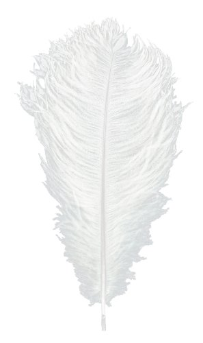 Touch of Nature 38167Ostrich Plume, 13bis 15Zoll, Weiß