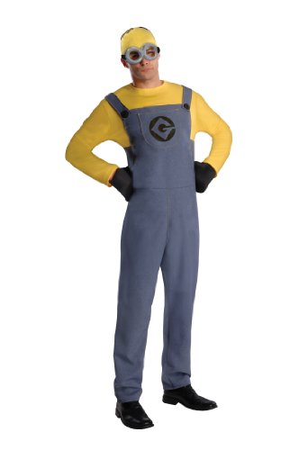 Erwachsene Verkleiden Kostüme (Rubies 3887201STD - Minion Dave Dress - Adult, Verkleiden und)