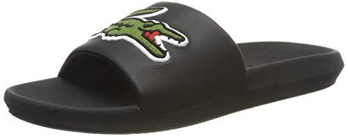 Lacoste Croco Slide 319 4 US CMA, Sandalias de Punta Descubierta para Hombre, Negro Black/Green, 42...