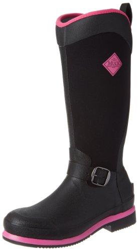 Muck Boots Reign Tall, Doublure froide Cuissardes haut femme Noir (Black/Hot Pink)