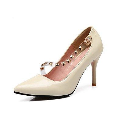 Moda Donna Sandali Sexy donna tacchi Primavera / Estate / Autunno / Inverno Slingback / pompa di base / StylesPU / Cuoio / Chiffon / Cuoio / Cotone / beige