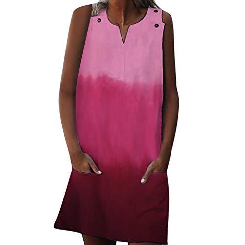 XuxMim Damen Abendkleid Kurz Spitze Sommerkleider Flare Sleeve Langarm Kleid V Ausschnitt Enge Minikleid Sexy Cocktailkleid Elegant Kleider Kurz Strand Kleidung Partykleider(Rosa,XX-Large)