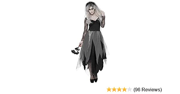 Hold Up Stockings White Tattoo Design Black top Gothic Halloween Fancy Dress