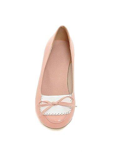 ZQ Scarpe Donna - Ballerine - Casual - Zeppe - Basso - Finta pelle - Rosa / Bianco / Beige , pink-us10.5 / eu42 / uk8.5 / cn43 , pink-us10.5 / eu42 / uk8.5 / cn43 pink-us5 / eu35 / uk3 / cn34