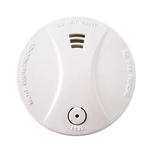 Rauchmelder mit 10 Jahren Batterielebensdauer (Batterie im Lieferumfang enthalten), CE EN14604-zertifizierter Rauchmelder, unabhängiger optischer Rauchmelder mit Prüftaste (1 Stück)