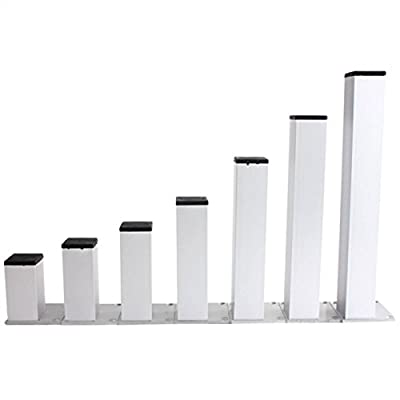 KING DO WAY 4Pcs Furniture Leg Support Stand Thicken Square Shape Metal Aluminum Table Cabinet Sofa Beds Legs Feet