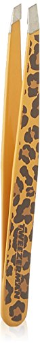 Tweezerman Slant - Pinza estampado leopardo