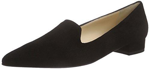 Evita Shoes Slipper, Mocassins Femme Noir - Schwarz (schwarz 10)