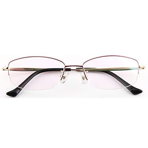 Advanced Lesung Gaming Brille,Glasses Anti Blue Light,Reintitan Brillengestell zweifarbige Brillen ultraleichte Brillengestell optische Brillen flache Brillen,Entlastung der Augen vor Müdigkeit-purpl