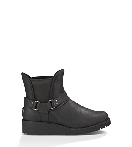 Ugg Australia Womens Glen Black Leather Boots 38 EU