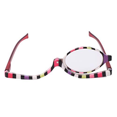 Lupe Make-up-brille (Kalttoy Damen Schminkbrille,Make up Brille mit klappbaren Brillenglas,Lesebrillen +1,5 +2,0 +2,5 +3,0 +3,5 +4,0 (+2.5))