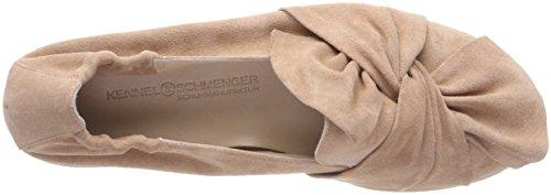Kennel und Schmenger Schuhmanufaktur Damen Malu XXL Plateau Ballerinas Pink (Rosette Sohle Weiß)