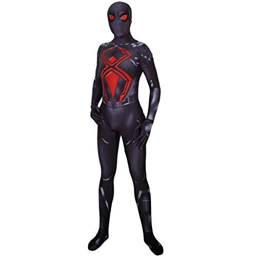 Einfach Zu Machen Marvel Superheld Kostüm - XaCxx Spiderman Miles Morales Jumpsuit Halloween