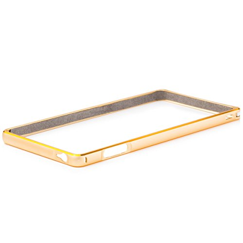 Sony Xperia Z3   iCues parachoques de aluminio bicolor de oro   [Visualiza protector incluido] CNC metal de aluminio caso del marco metálico Case Alubumper Funda Carcasa Bolsa Cover Case