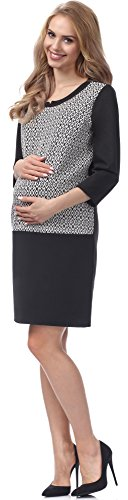 Be Mammy Maternité Robe Femme BE20-145 Noir-1