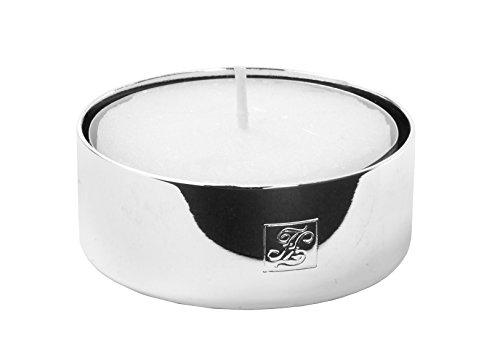 Fink Living Teelichthalter, 4er Set, Metall, Silber, 4 x 4 x 1.5 cm, 4-Einheiten (Blumen Vase Mit Hocker)