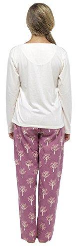 Lora Dora Damen Schlafanzug Large Deer - Cream/Pink