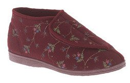 norma-touch-fastening-boot-slipper-wine-floral-wine-floral-size-uk-ladies-size-8