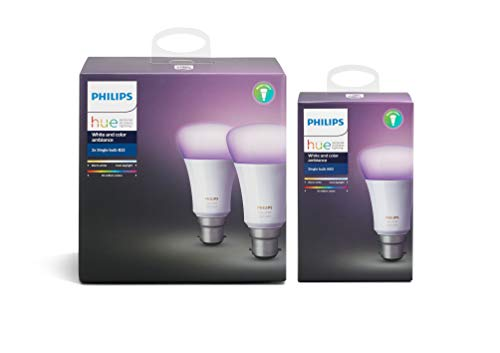 Philips Hue White and Colour Ambience 3-Pack (B22)