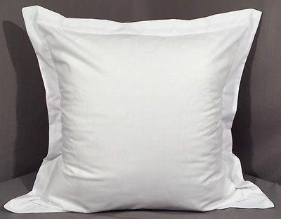 Baumwolle Streifen-kissen-sham (Scala Bettwäsche Echt 450Fadenzahl 2Kissen Sham weiß Massiv Soft einlagigen Ägyptische Baumwolle Made in Indien, Baumwolle, White Solid, Euro/Square(26 x 26 inch + 2'' Flange))