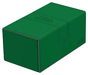 Ultimate Guard Twin FlipŽnŽTray Deck Case 200+ Caja de Cartas Tamaño Estándar XenoSkin Verde