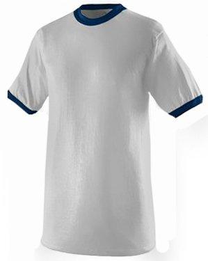 Augusta 710Ringer T-Shirt XXXL Weiß/Navy -