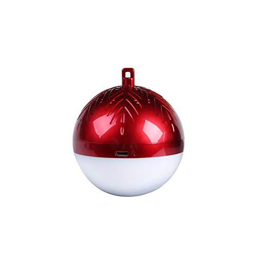 AchidistviQ Lovely Christmas Ball Mini Wireless Bluetooth Speaker LED Hanging Decor Wireless Bluetooth Audio LED Illuminazione Creativa Red