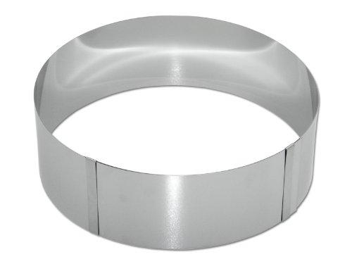 chg 8096-05 Tortenring, h = 8,0 cm, stufenlos verstellbar von 15,0 - 30,0 cm