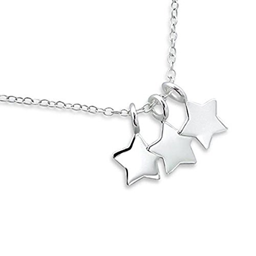 Delicate Tiny Stars Necklace - Sterling Silver - 45cm 6FPoKsZL