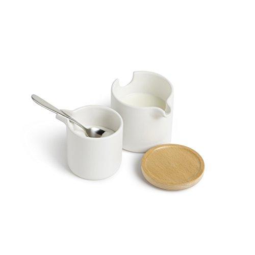 Umbra 461062-668 Savore Milch und Zucker Set, weiß/Natur