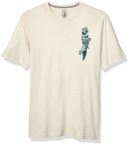 Volcom Herren T-Shirt Parrot Collage Modern Fit Short Sleeve Tee - Weiß - X-Groß -