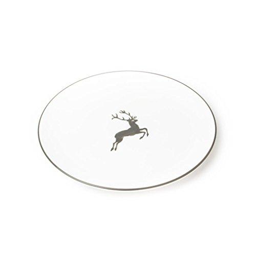 GMUNDNER KERAMIK Speiseteller Cup   Durchmesser : 25 cm   grauer Hirsch   Geschirr, handgemacht in Österreich